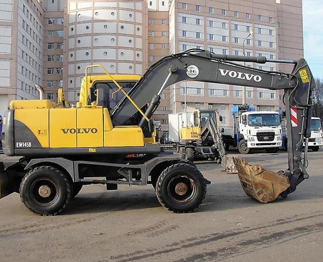 Аренда экскаватора Volvo EW145B с гидромолотом